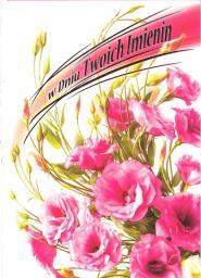 Artnuvo Karnet B6 Kwiaty imieniny  FF1284