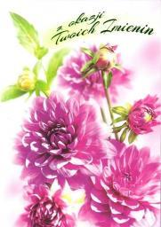Artnuvo Karnet B6 Kwiaty imieniny  FF1279
