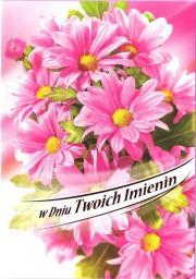 Artnuvo Karnet B6 Kwiaty W Dniu Twoich Imienin FF1278