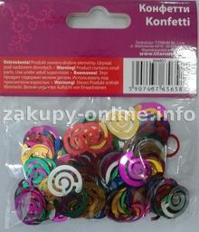 Titanum Konfetti spiralki 14g mix kolorów