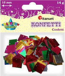 Titanum Konfetti kwadraty 14g 15mm (BS016)