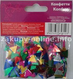 Titanum Konfetti trójkąty mix kolorów 14g 12mm