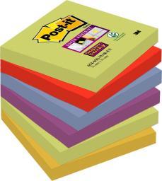 Blok biurowy Post-it Bloczek samoprzylepny Post-It super sticky,Marrakesz 76x76mm,6x90k.654-6SS-MAR.