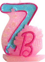 Arpex Świeczka urodzinowa Barbie nr 7 (DY0043(7)BA)