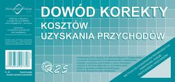 Michalczyk & Prokop Dowód korekty kosztów uzyskania przychodów K25 1/3A4