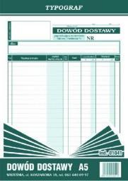 Typograf Dowód dostawy A5 (01041)