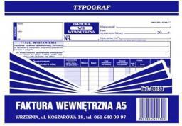 Typograf Faktura wewnętrzna A-5 s