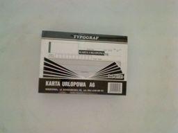 Typograf Druki samokopiujące karta urlopowa, A6 80 (01131)