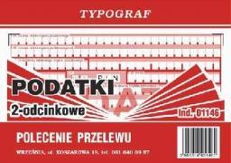 Typograf Druk polecenie przelewu podatki 2 odc. A6 samokopiujący (01146)