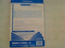 Typograf Druki samokopiujące umowa o dzieło A4 40 (01096)