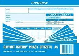 Typograf Raport dzienny pracy sprzętu A5 s (01199)