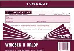 Typograf Druki offsetowe wniosek o urlop A6 80 (02030)