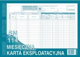 Typograf Druki miesięczna karta eksploatacyjna A5 Sm 113 (02047)