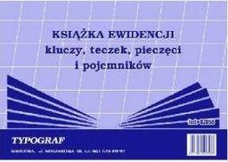 Typograf Druki samokopiujące książka ewidencji kluczy, teczek, pieczęci i pojemników, A-5 (02058)