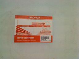 Typograf Druki offsetowe dowód wewnętrzny dla podatników prowadzących książkę przychodów i rozchodów A6 80 (02145)
