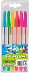 Lambo School Długopisy fluorescencyjne 6 kolorów