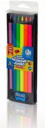 Astra Kredki ołówkowe neonowe Jumbo 6 kolorów ASTRA