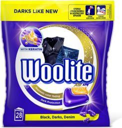 Woolite Kapsułki Black Darks Denim do prania do tkanin ciemnych z keratyną 28szt.