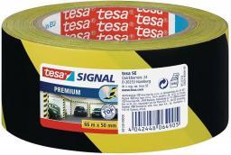 Tesa Taśma ostrzegawcza żółto-czarna 50mmx66m