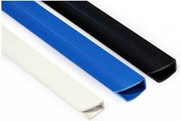 Staples Listwa wsuwana do oprawy dokumentów, standard 9mm, czarny, opakowanie 50 szt.