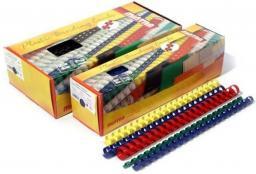 Staples Grzbiety plastikowe do bindowania 25mm, czarny, opakowanie 50 sztuk (PD0354)