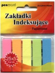 Polsirhurt Zakładki indeksujące ZI-02 papierowe 5x25 12mmx45mm