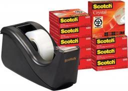 Zestaw Taśma biurowa Scotch 19MMX33M krystaliczna+podajnik C60 gratis 6-1933R10TPC