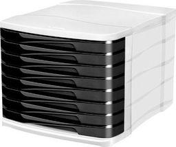 CEP CEP Pojemnik z szufladami BOX 8 szuflad czarny