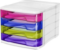 CEP Pojemnik z szufladami Pro Happy 4 szuflady kolorowe
