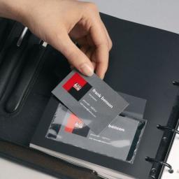 Durable Kieszeń Pocketfix samoprzylepna - okienko, 57 X 90 mm, opakowanie 10 szt.