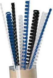 Staples Grzbiety plastikowe do bindowania 16mm czarny, opakowanie 25 sztuk (C80033)