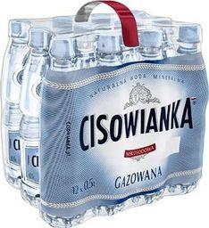 Woda Cisowianka CISOWIANKA Woda gazowana 0.5l, zgrzewka 24 sztuk