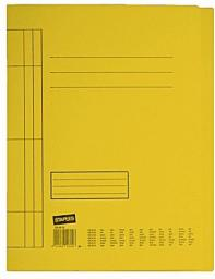 Skoroszyt Staples kartonowy A4, żółty