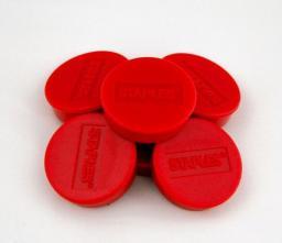 Flipchart Staples Magnesy do tablic magnetycznych 30mm, czerwony, opakowanie 10 sztuk (C61102)