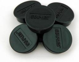 Staples Magnesy do tablic magnetycznych 10mm, czarny, opakowanie 10 sztuk (C61134)