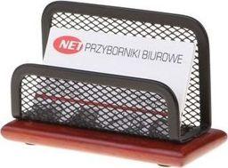 NET Wizytownik z drewnianą podstawą Z3505 czarny siatka