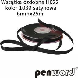 Polsirhurt Wstążka satynowa czarna 12mmx25m (H023)