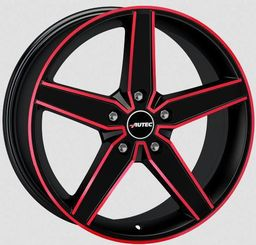 Autec DELAN Matt Black Red 8x18 5x112 ET35