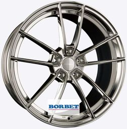 Borbet FF1 Stainless Polished 8.5x19 5x112 ET35
