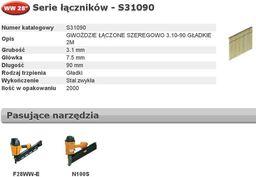 Bostitch BOSTITCH GWOŹDZIE WW 28` 3,1 x 90mm S310R90 2000 szt. BCHS31090