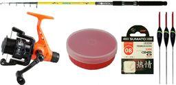 Robinson Zestaw spławikowy wędka Diamond Tele Bream 3.30m 20-50g kołowrotek Joker Rd301 + Akcesoria