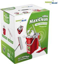 GreenBlue Mop płaski z wiadrem i wyciskaczem GB850