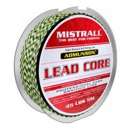 Mistrall Plecionka Lead Core Admunson beżowo-zielona 5m 55lbs (zm-3425055)