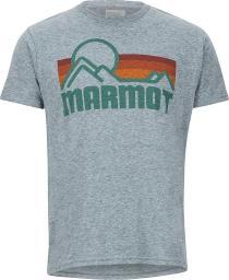 Marmot Koszulka męska Marmot Coastal Tee SS Ash Heather r. XXL