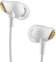 Słuchawki Rock Rock douszne słuchawki Stereo Zircon Białe