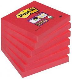 Post-it Bloczek SUPER STICKY 654-6SS-PO, 76x76mm, rozpalona czerwień, 90 kartek, 6 sztuk (3M0566)
