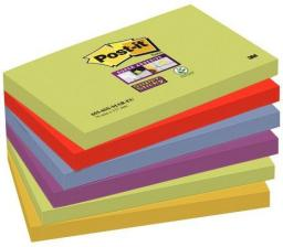 Post-it Bloczek SUPER STICKY 655-6SS-MAR, paleta MARRAKESZ, 76x127mm, 6x90 kartek (3M0573)