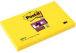 Post-it Bloczek SUPER STICKY 655-S, 127x76mm, żółty (3M0497)