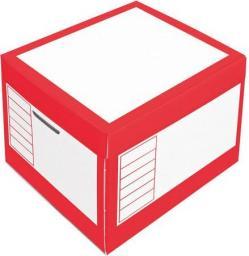 PRESSEL Pudło archiwizacyjne otwierane z góry 410x350x300mm czerwony, 10 sztuk (PRS010)