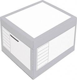 PRESSEL Pudło archiwizacyjne otwierane z góry 410x350x300mm szary, 10 sztuka (PRS012)